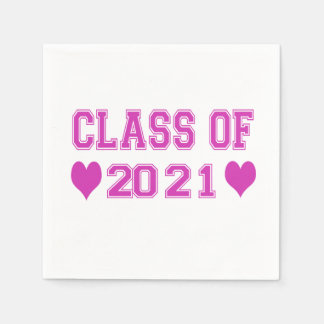 8th Grade Class of 2021 Paper Napkins