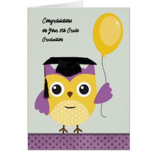 8th Grade Graduation Wise Owl Card