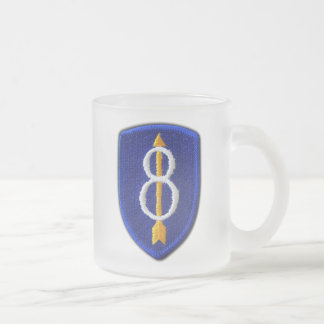 8th Inf Div infantry ID vets veterans vets Germany Frosted Glass Coffee Mug