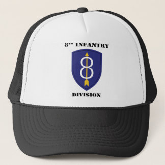 8th infantry Division With Text Trucker Hat