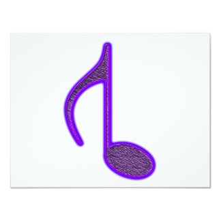 """8th Musical Note Reversed Large Created 2010 4.25"""" X 5.5"""" Invitation Card"""