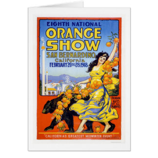 8th National Orange Show 1918 Card