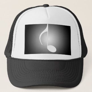 8th Note Black Reversed With White Spotlight Trucker Hat