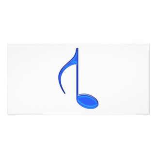 8th Note Created Backwords Royal Blue Large Card
