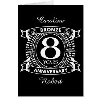 8TH wedding anniversary bronze Card