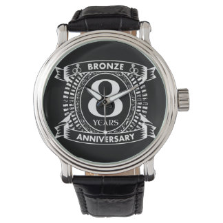 8TH wedding anniversary bronze Watch