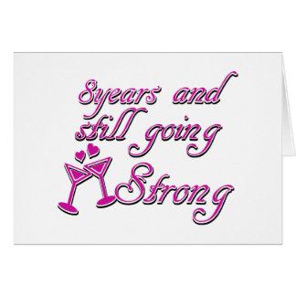 8th wedding anniversary greeting card