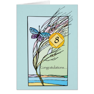 8th Yr. NA Recovery Anniversary Each Day Butterfly Card