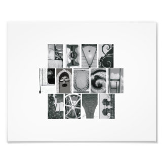 8x10 Alphabet Letter Photography Live Laugh Love Photo Print