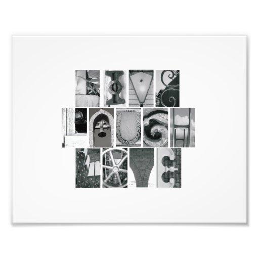 8x10 Alphabet Letter Photography Live Laugh Love Art Photo