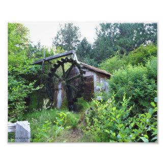 8X10 Dalby Waterwheel in Union Washington-Summer Photo Art