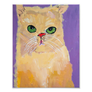 8x10 Ginger Cat Print