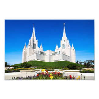 8X10 Photo of he San Diego LDS Temple