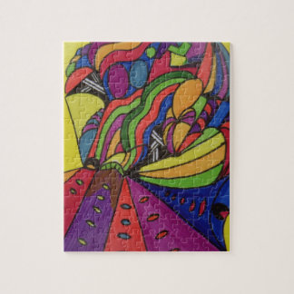 8x10 Photo Puzzle w/abstract design
