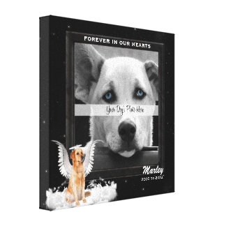 8x8 Golden Retreiver Angel Dog Pet Memorial Photo Canvas Print