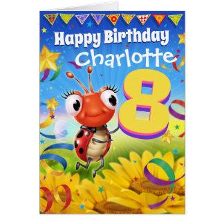 8yrs Custom birthday card Little Ladybug range