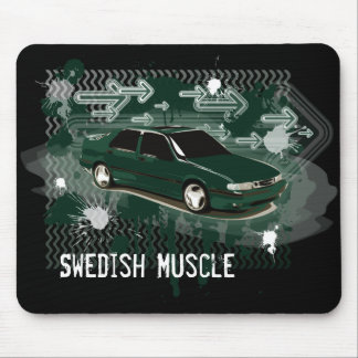9000 aero scarabe green, Swedish Muscle Mouse Pad
