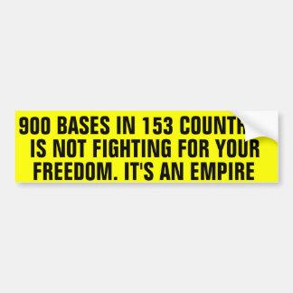 900 Military Bases Bumper Sticker