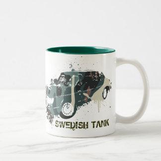 900_turbo_camo, SWEDISH TANK Two-Tone Coffee Mug