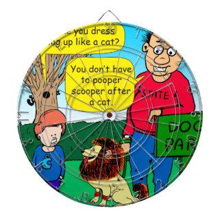 901 Why is dog dressed like a cat cartoon Dartboard