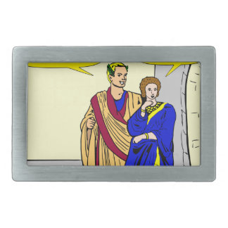 "902 Caesar ""I'll make a salad"" cartoon Belt Buckle"