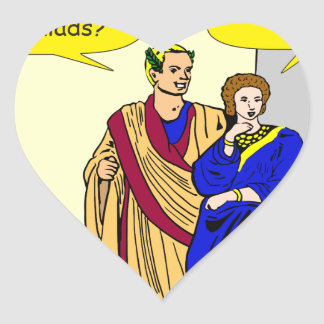 "902 Caesar ""I'll make a salad"" cartoon Heart Sticker"