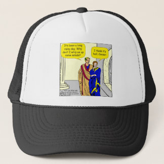 "902 Caesar ""I'll make a salad"" cartoon Trucker Hat"
