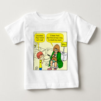 903 Grandma is checking email cartoon Baby T-Shirt
