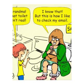 903 Grandma is checking email cartoon Letterhead