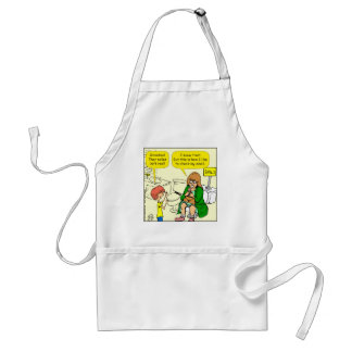 903 Grandma is checking email cartoon Standard Apron