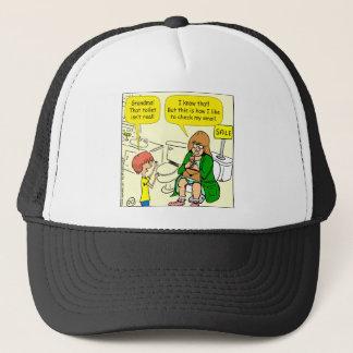 903 Grandma is checking email cartoon Trucker Hat