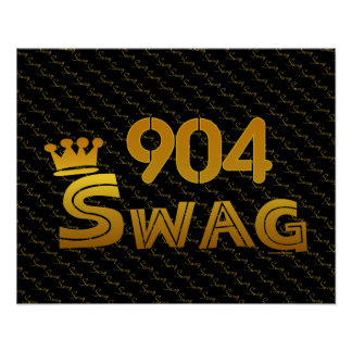 904 Area Code Swag Posters