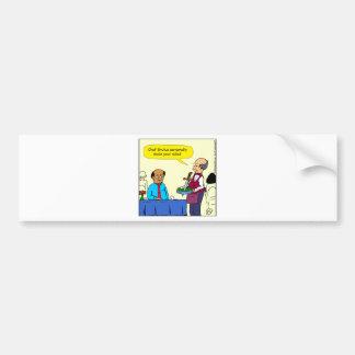 904 Chef Brutus made the salad cartoon Bumper Sticker