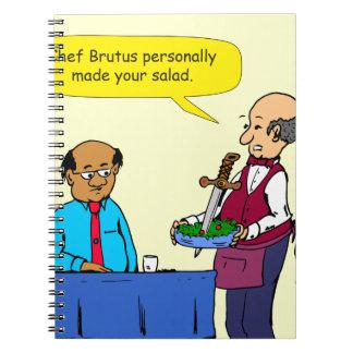 904 Chef Brutus made the salad cartoon Notebooks