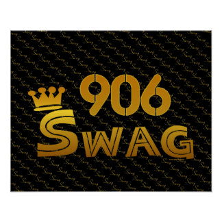 906 Area Code Swag Posters