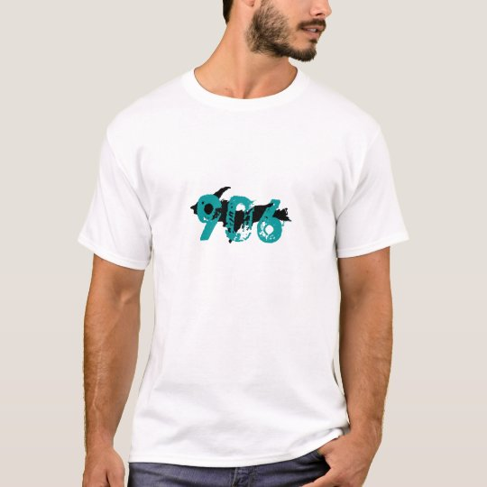 """906"" Upper Peninsula Michigan White t-shirt"
