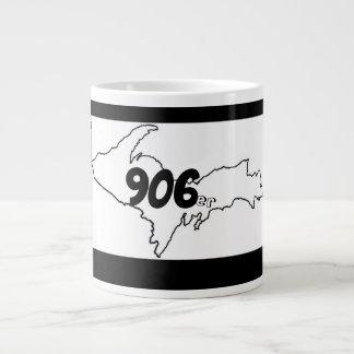 906er Michigan U.P. Jumbo Mug - Black/White