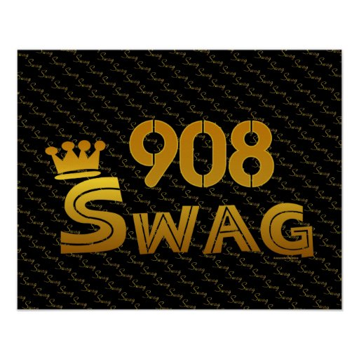 908 Area Code Swag Poster