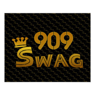 909 Area Code Swag Posters