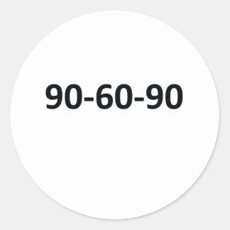90-60-90 ROUND STICKER