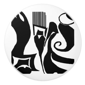 90 Abstract Black & White Door Knob