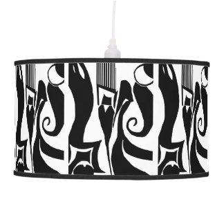 90 Abstract Black & White Pendant Lamp