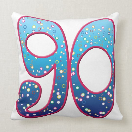 90 Age Rave Throw Pillow