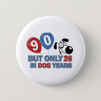 90 birthday design 2 inch round button