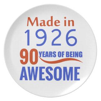 90 birthday design dinner plates