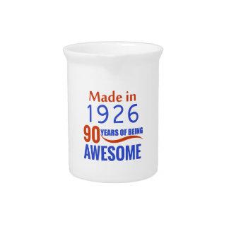 90 birthday design drink pitcher
