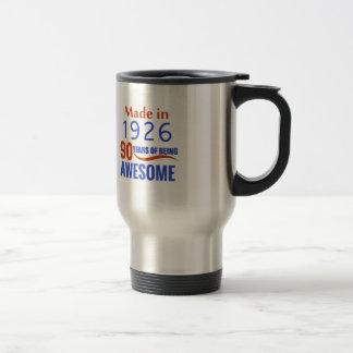 90 birthday design travel mug