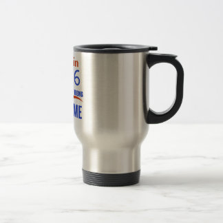 90 birthday design travel mug