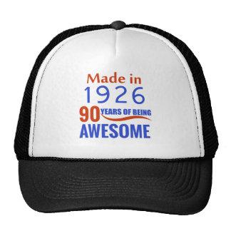 90 birthday design trucker hat