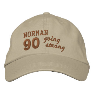 90 Birthday Going Strong STONE and PENNY V01F4 Embroidered Hat